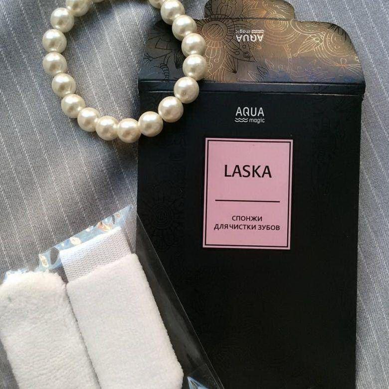 Спонжи для чистки зубов AQUAmagic LASKA, 2шт